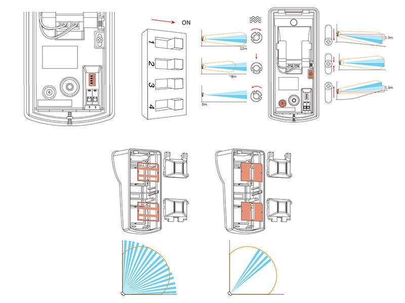 Hikvision DS-PD2-T12P-WEL Rivelatore da esterno doppia tecnologia senza fili portata 12 m