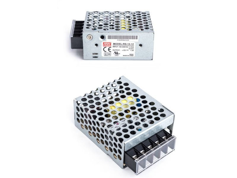 Meanwell RS-15-12 Alimentatore switching con tensione regolabile 12V 1,3 A