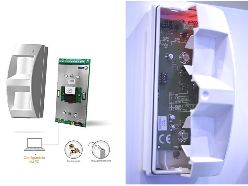 AMC SOUTDOOR/T sensore a tripla tecnologia da esterno