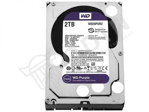 Western Digital WD20PURZ Hard disk 2 Terabyte per videosorveglianza