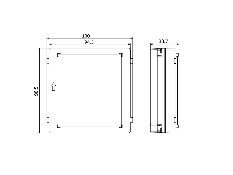 Hikvision DS-KD-BK Modulo cieco esterno per intercom modulare