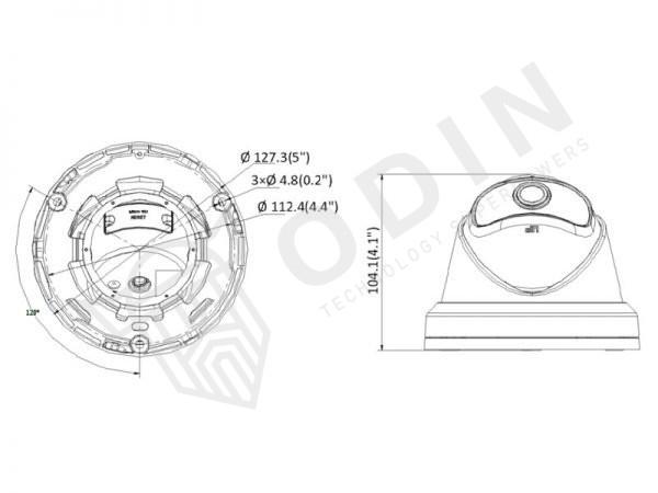 Hikvision DS-2CD2345G0P-I Telecamera wide dome Ip 4 Mpx 180° con microfono