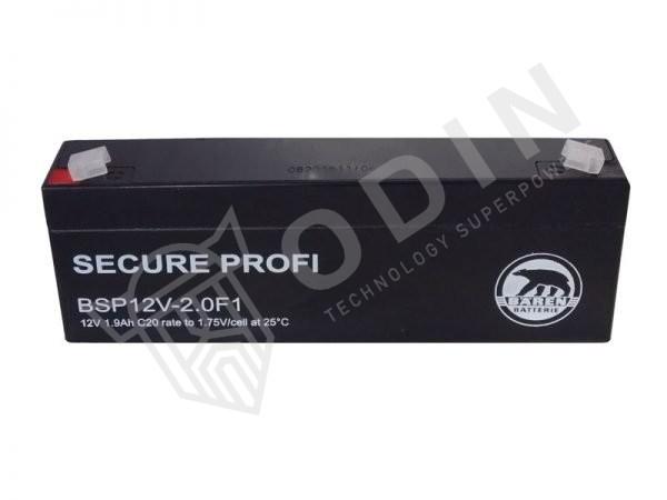 Baren BSP12V-2.0F1 Batteria al Piombo-Acido per 12V 1,9 Ah
