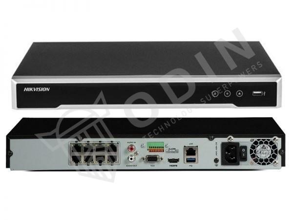 HIKVISION DS-7608NI-I2/8P Nvr 8 ingressi PoE per telecamere fino a 12 Mpx 80 Mbps