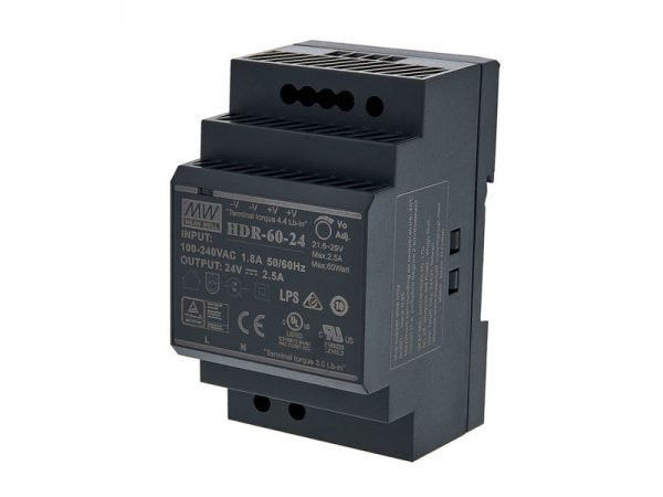 Hikvision DS-KAW60-2N Alimentatore su guida din 24V 2,5 Ah 60W