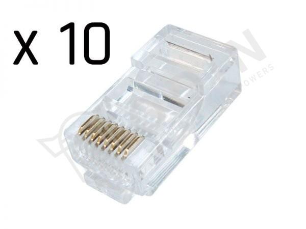 Plug RJ45 per cavi UTP di categoria CAT5e busta 10 pz