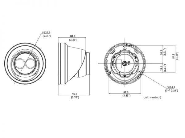 Hikvision DS-2CD2343G0-IU Telecamera minidome Ip 4 Mpx con microfono ottica 2,8 mm con IR fino a 30 mt
