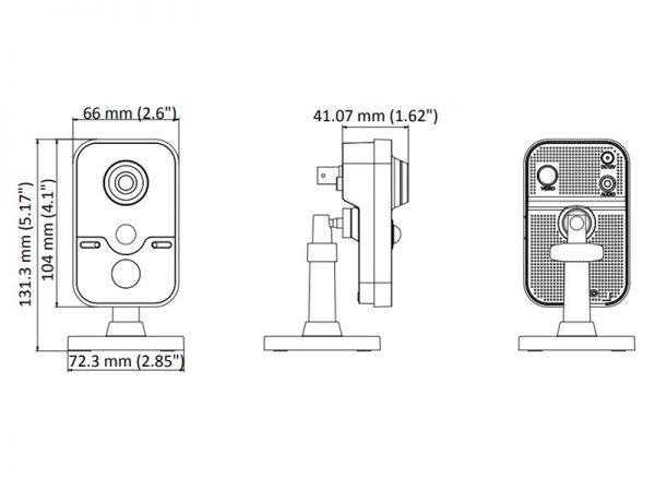 HIKVISION DS-2CE38D8T-PIR Telecamera cube ottica 2,8 mm 2 Mpx con sensore PIR