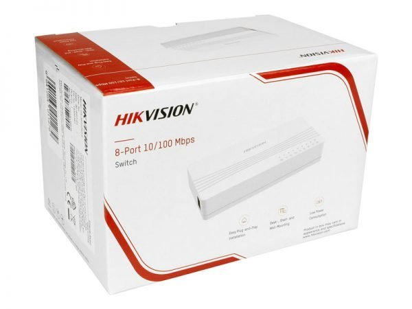 Hikvision DS-3E0108D-E Switch 8 porte ethernet 10/100 Mbps