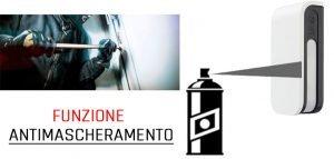 Funzione antimascheramento per rilevatori, protezione superiore di allarme