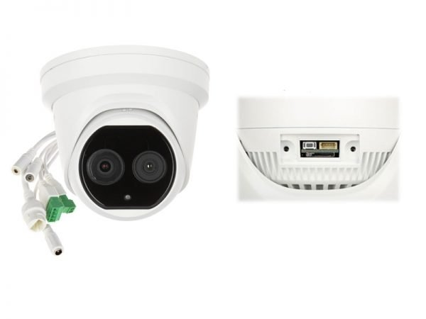 Hikvision DS-2TD1217-3/V1 Telecamera termica dome Bi-Spectrum (termica 3.1 mm e normale 4 mm)