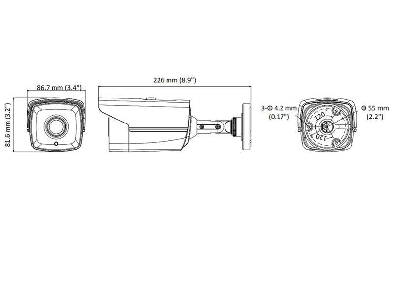 HIKVISION DS-2CE16D0T-IT3F Telecamera Turbo HD ottica 3,6 mm 2 Mpx con IR fino a 40 mt