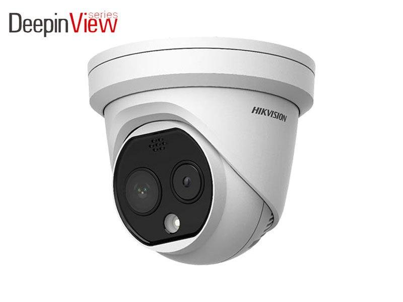 Hikvision DS-2TD1217B-3/PA Telecamera termografica IP dome Bi-Spectrum con misurazione febbre ottica termica 3.1 mm e normale 4 mm