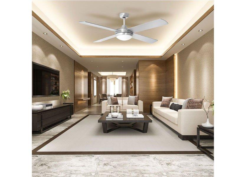 Ventilatore da soffitto 35W con telecomando portalampada per lampadine led E27 V-TAC VT-6054-4