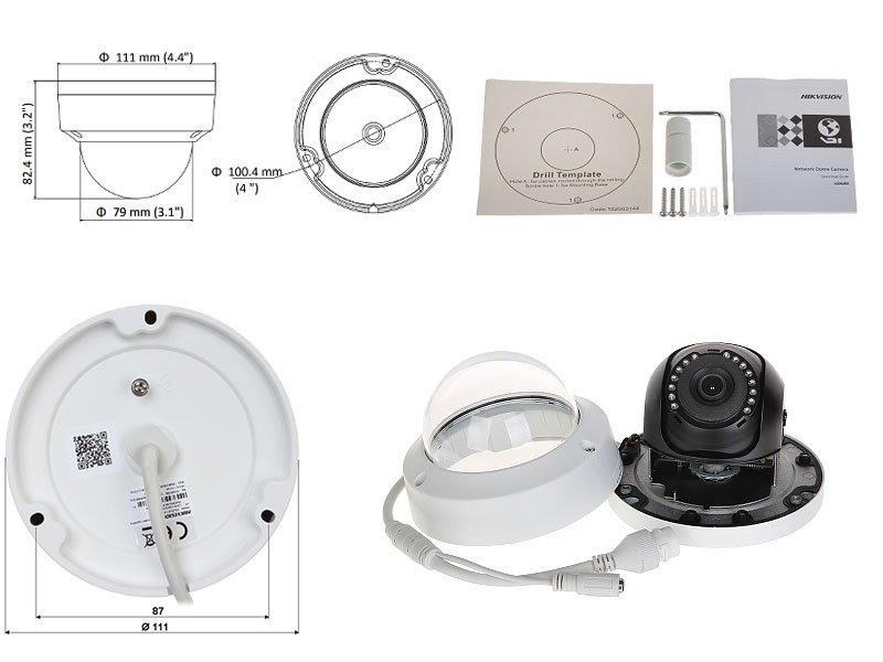 Hikvision DS-2CD1123G0E-I Telecamera dome 2 Megapixel ottica 2,8 mt PoE IR fino a 30 mt