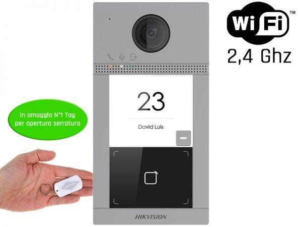 Hikvision DS-KV8113-WME1 Videocitofono wifi 2 MP ottica grandangolo IP65