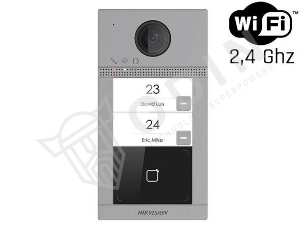 Hikvision DS-KV8213-WME1(B) Videocitofono bifamiliare wifi Surface 2 MP ottica grandangolo IP65