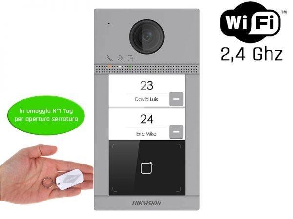 Hikvision DS-KV8213-WME1 Videocitofono bifamiliare wifi 2 MP ottica grandangolo IP65