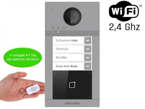 Hikvision DS-KV8413-WME1 Videocitofono wifi 2 MP ottica grandangolo IP65