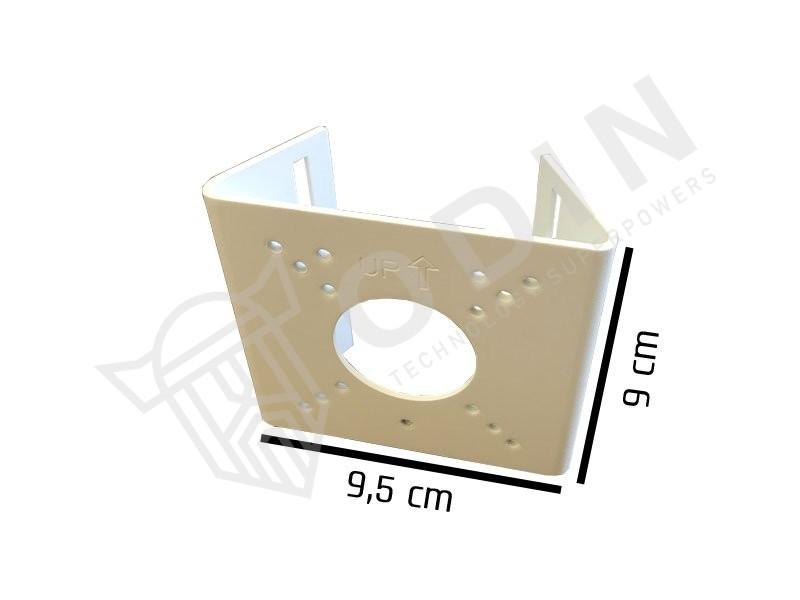 Supporto da palo videosorveglianza per fissaggio telecamere con fascette in ferro regolabili