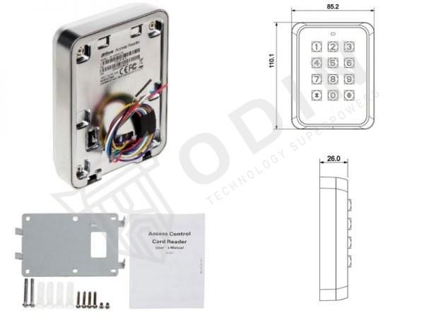 Dahua ASR1101M-D Lettore RFID/Wiegand RS485 Tastiera controllo accessi