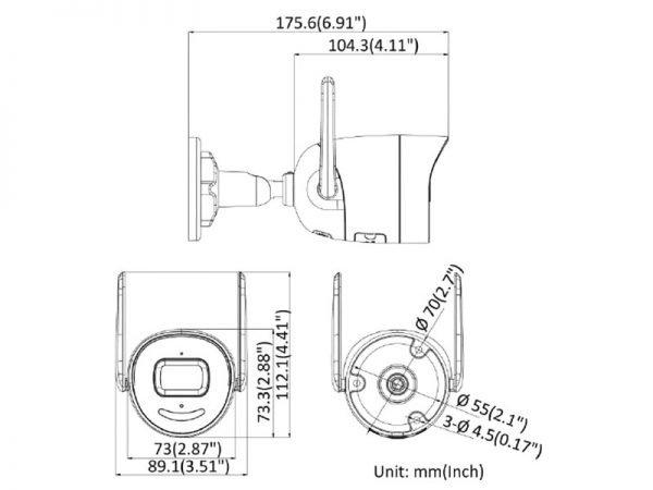 Hikvision DS-2CV2046G0-IDW Telecamera wifi 4 Megapixel ottica 2,8 mt Acusense