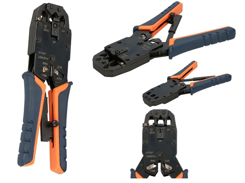 Pinza crimpatrice Plug RJ11 RJ12 RJ45 4 6 8 Poli per cavi di rete
