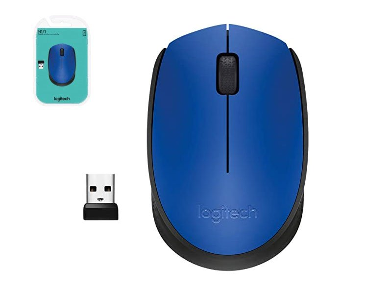 Mouse Logitech M171 wireless 2,4 Ghz con ricevitore USB
