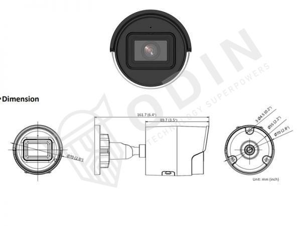 Hikvision DS-2CD2046G2-I Telecamera Bullet Ip 4 Megapixel ottica fissa 2,8 mm IR 40 mt