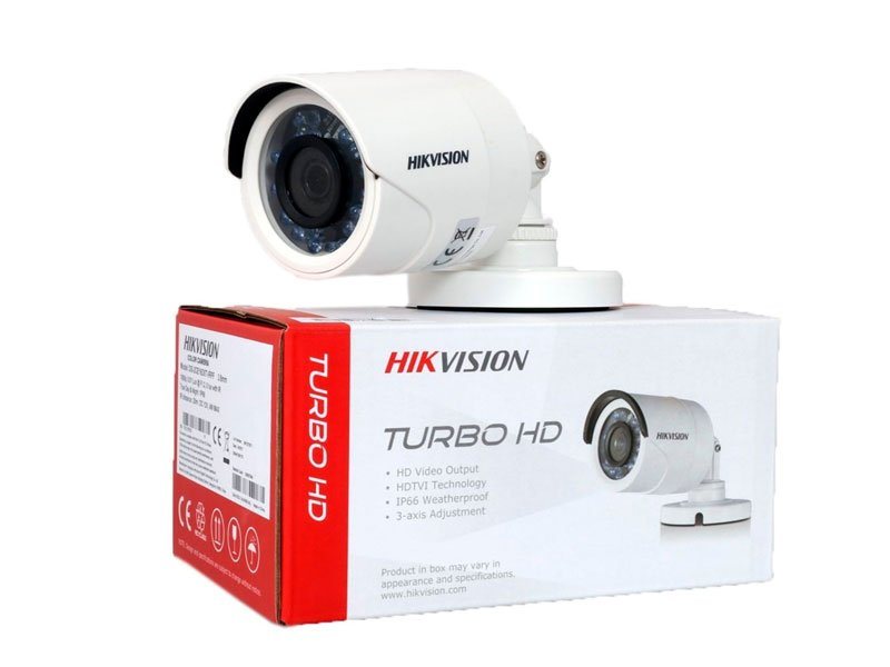HIKVISION DS-2CE16D0T-IRPF Telecamera bullet turbo Hd 1080P 2,8 mm 2 Mpx con IR fino a 20 mt IP66