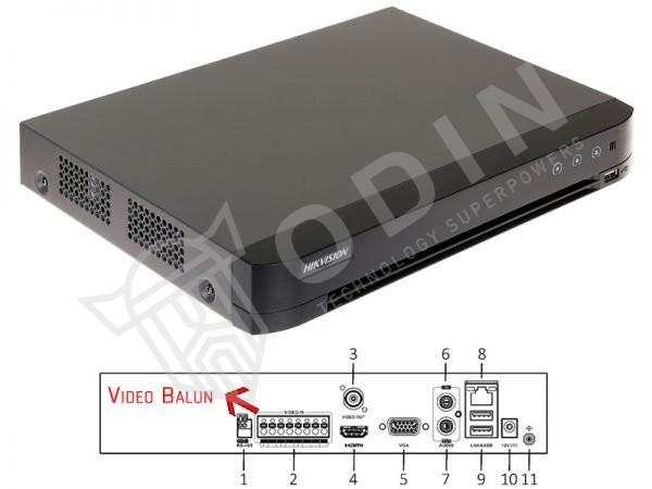 HIKVISION DS-7204HQHI-K1/B DVR Turbo HD 4 ingressi con video balun integrati
