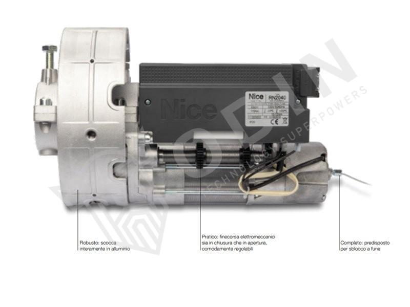Motoriduttore per serrande bilanciate fino a 170 kg Nice RN2040