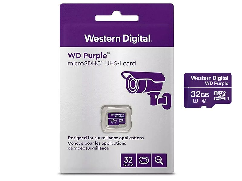 Western Digital WDD032G1P0A MicroSD 32GB per videosorveglianza