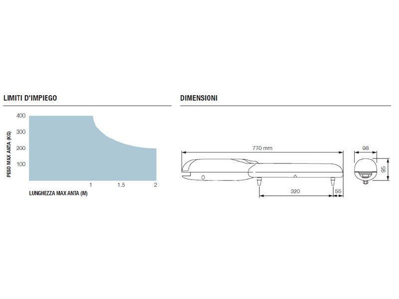 Nice WINGO4024BDKCE Kit automazione per cancelli a battente fino a 2 mt 24 Vdc