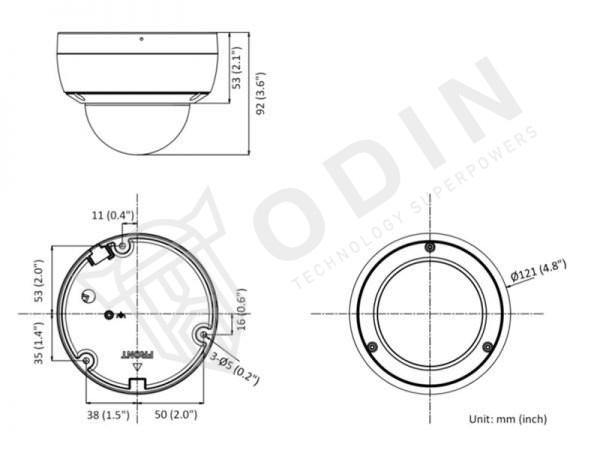 Hikvision DS-2CD2146G2-I Telecamera dome 4 Mpx Acusense IR 30 mt IP66 ottica 2,8 mm
