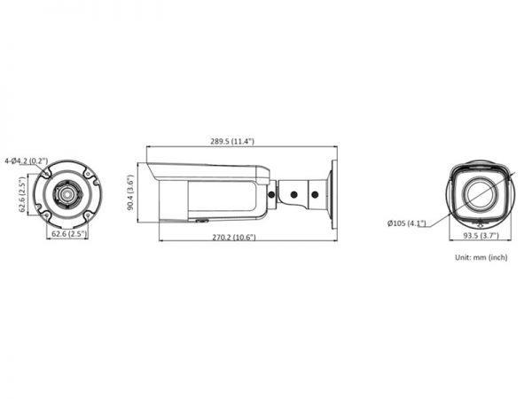 Hikvision DS-2CD2T46G2-4I Telecamera Bullet Ip 4 Megapixel ottica fissa 2,8 mm IR 80 mt
