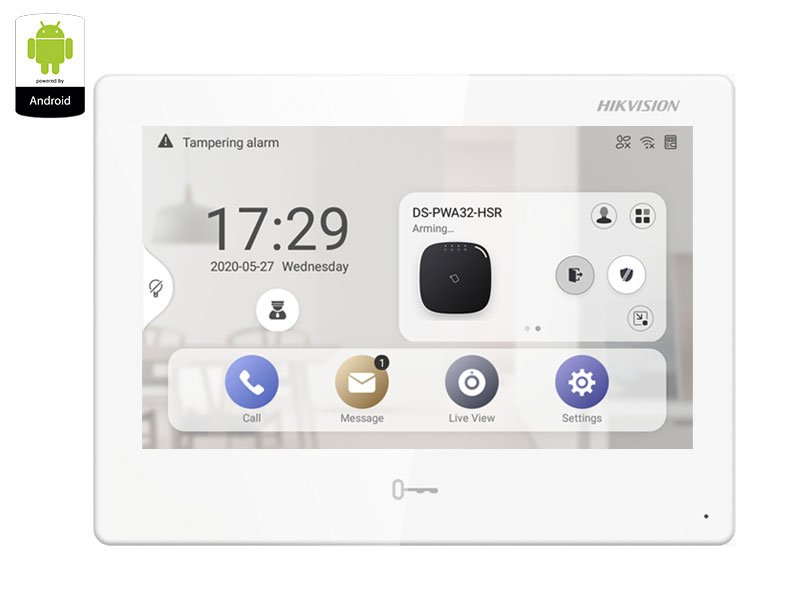 """HIKVISION DS-KH9310-WTE1 Monitor supervisione 7"""" Touch Android 1024x600"""