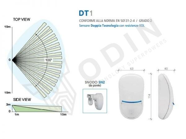 AMC DT1 Sensore volumetrico doppia tecnologia pet immune portata 15 mt serie Pro Line