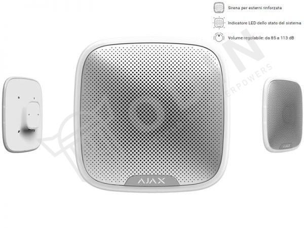 AJAX STREETSIREN-W Sirena antifurto wireless per esterno a led