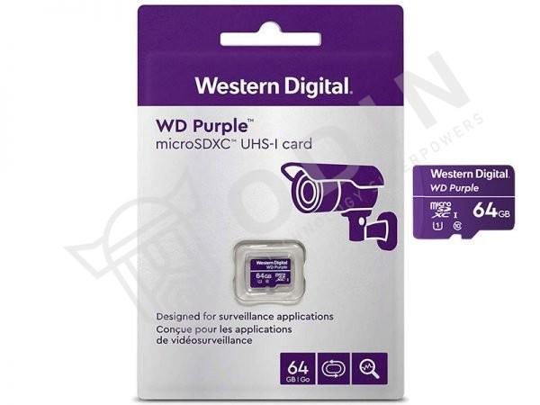 Western Digital WDD064G1P0A MicroSD 64GB per videosorveglianza