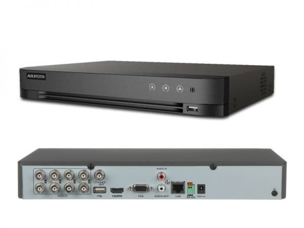 HIKVISION iDS-7208HQHI-M1/FA DVR Turbo HD Acusense 8 ingressi + 2 canali IP fino a 6 Mpx
