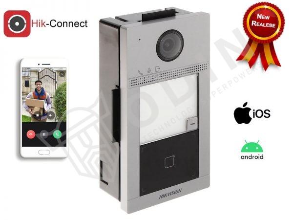 Hikvision DS-KV8113-WME1/FLUSH Videocitofono wifi 2 MP ottica grandangolo IP65 ad incasso