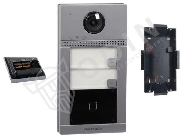 Hikvision DS-KV8213-WME1/FLUSH Videocitofono bifamiliare wifi 2 MP ottica grandangolo IP65 ad incasso