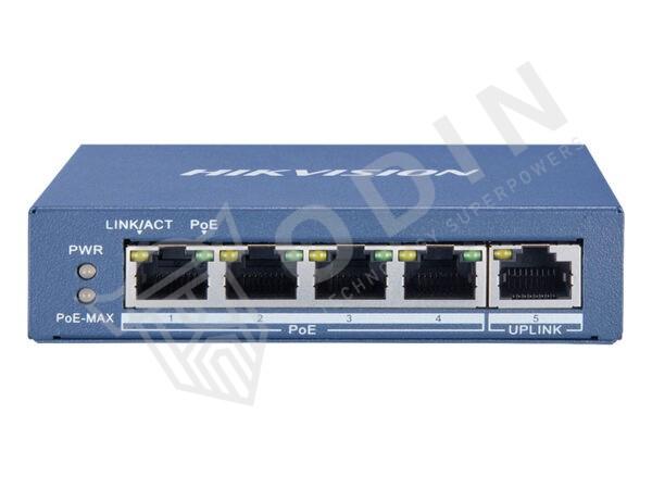 Hikvision DS-3E0505P-E Switch PoE 5 Porte Gigabit 10/100/1000Mbps Uplink