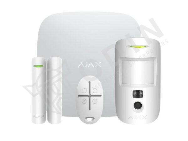 AJAX STARTERKITCAM Kit allarme wireless 2G con sensore con fotocamera, contatto magnetico e telecomando